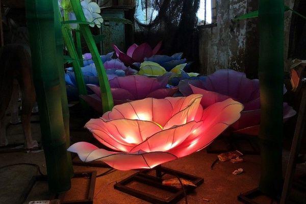 Création des lanternes, festival Les Lumières Légendaires de Chine - Marseille 2019-2020