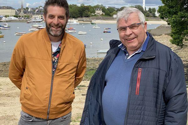 Thelo Mell ha Guy Riou e Sant-Voran / Thelo Mell et Guy Riou à Sainte-Marine