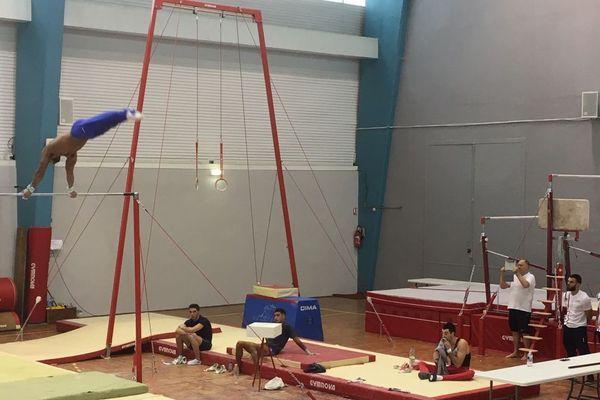 L'équipe de France masculine de gymnastique artistique est en stage à Montceau-les-Mines cet été 2019