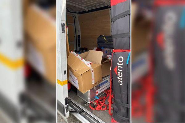 Un camion de la Croix-Rouge de Haute-Savoie a été vandalisé.