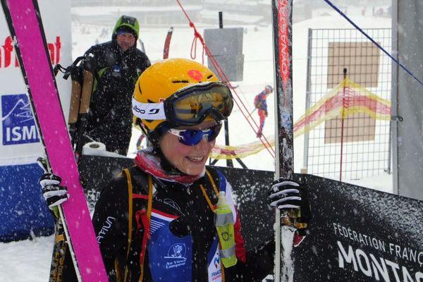 Coupe du monde de ski-alpinisme à Super Dévoluy, la française Axelle Gachet-Mollaret en or