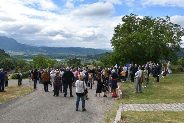 La commémoration de la Rafle du 16 juillet 1942 est un des temps forts de la saison à Izieu (Ain)