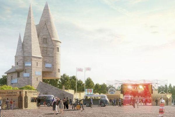L'architecte du Village des marques de Coutras en Gironde a imaginé un village résolument contemporain, économe et bas carbone selon le constructeur Vinci immobilier. L'ensemble du projet vise d'ailleurs des Labels environnementaux.