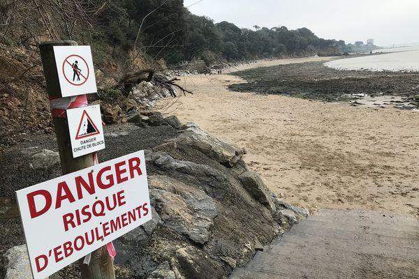 Le sentier côtier est victime du ruissellement des eaux de pluie.
