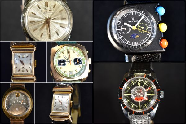 Il s'agit de très belles pièces provenant majoritairement des collections de deux amateurs des montres LIP.