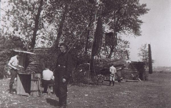 La Luftwaffe sur l'aérodrome du Touquet, pendant la Bataille d'Angleterre, en septembre-octobre 1940.
