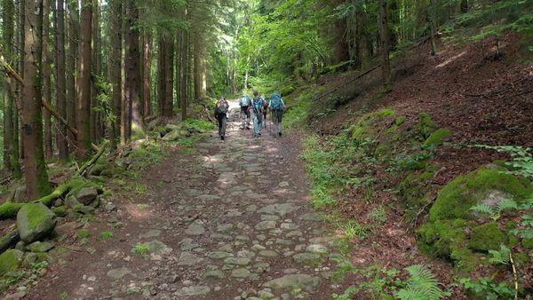 Le «chemin de pierre».