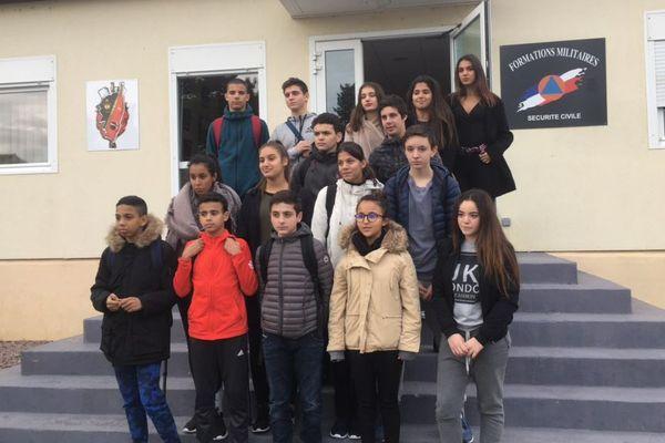 10/01/2018 -  16 collégiens bastiais ont officiellement intégré mercredi la promotion des cadets de la Sécurité Civile de Haute-Corse.