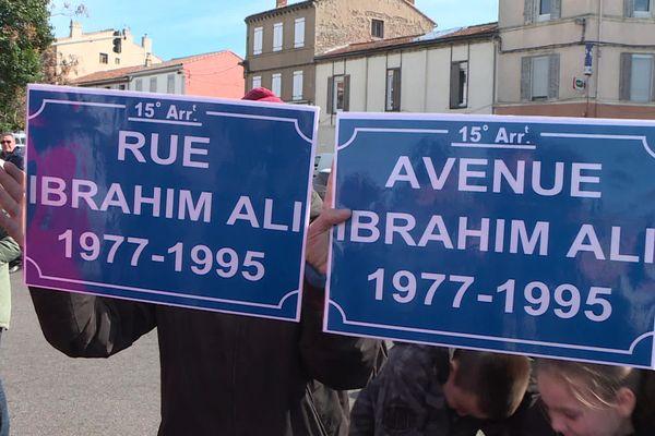 Le 21 février 2020, lors d'un hommage à Ibrahim Ali.