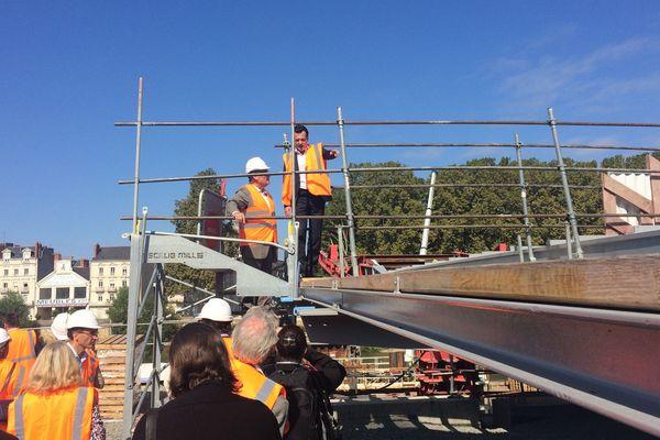 Christophe sur le chantier du tramway, octobre 2018