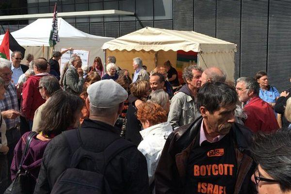 Une manifestation de soutien aux sept militants pro-palestiniesn condamnés en septembre 2013 était organisée ce lunid à l'occasion du procès en appel à Caen