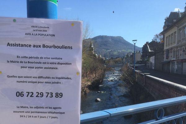 A La Bourboule, dans le Puy-de-Dôme, la municipalité a mis en place différentes actions dont un numéro d'assistance, en raison de l'épidémie de coronavirus COVID 19.