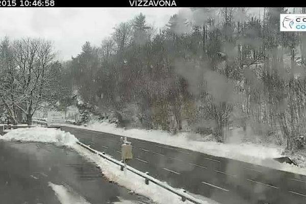 22/11/15 - Capture d'écran d'une webcam de la CTC au col de Vizzavona dimanche matin