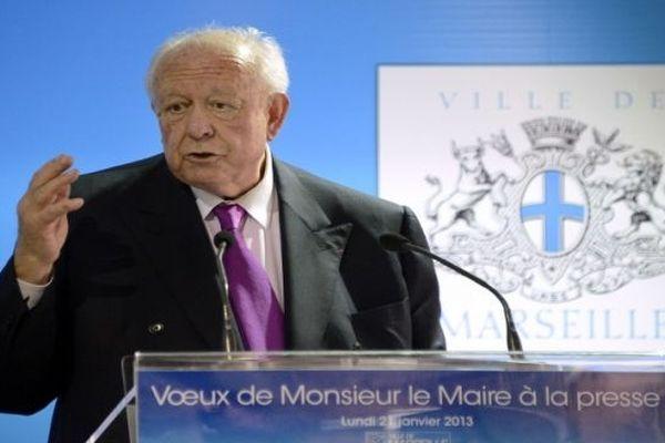 le 12 janvier 13, les voeux du maire de Marseille à la presse