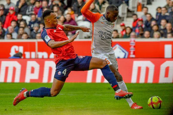 Gabriel (LOSC), le 17 février 2019 face à Montpellier au stade Pierre Mauroy (Villeneuve d'Ascq).