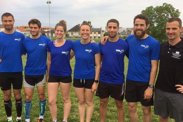 Les membres du Poitiers Runiversity qui vont participer au championnat de France de trail à La Réunion le 4 juin 2017.