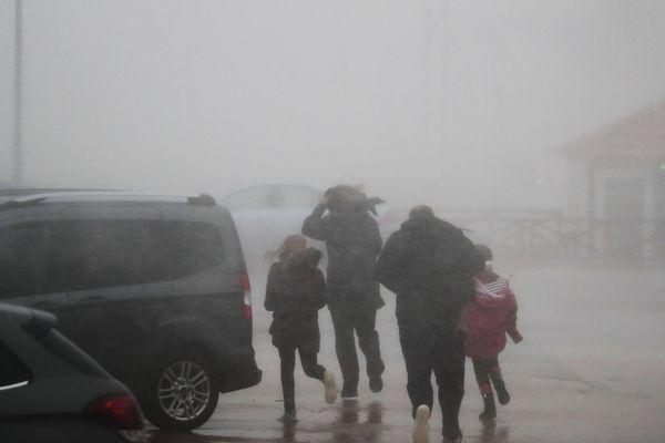 Le 1er janvier 2018, passage de la tempête Carmen à Lacanau Océan