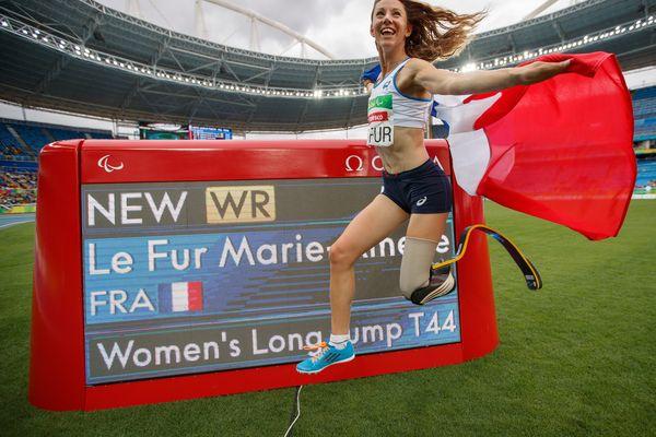 Marie-Amélie Le Fur lors des Jeux Paralympiques de Rio en 2016.