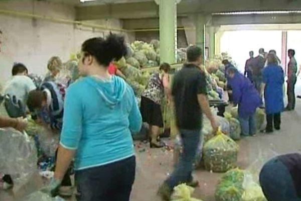 Les bouchons seront recyclés en Belgique et transformés en palettes