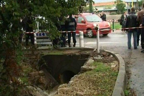 A cause des inondations deux étudiants ont disparu à Toulon, le 26 octobre, dans ce canal de 800 mètres de long
