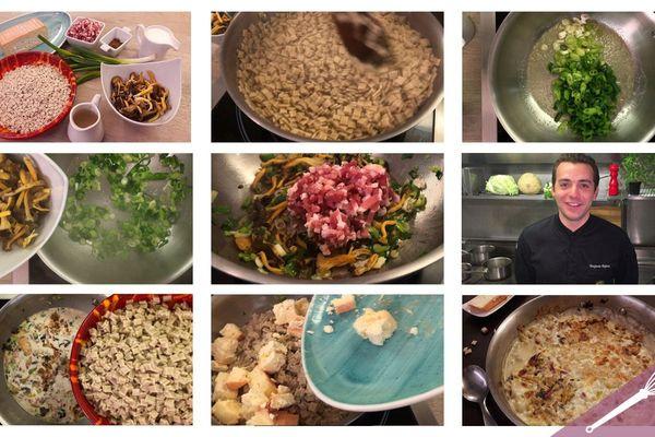 Les grandes étapes de la recette de la croziflette au maroilles