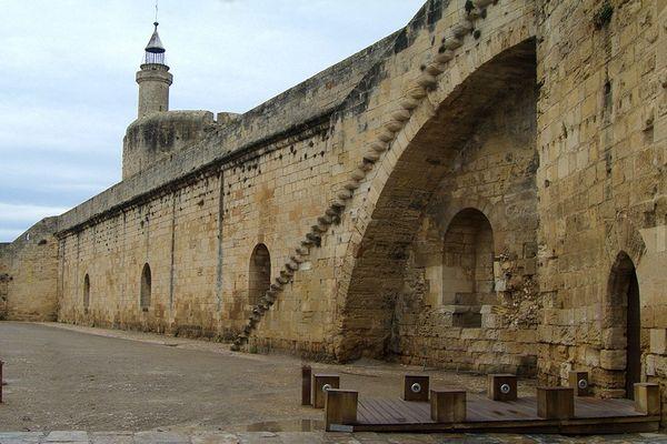 La citadelle d'Aigues-Mortes, l'un des joyaux du patrimoine français située en Camargue dans le Gard.