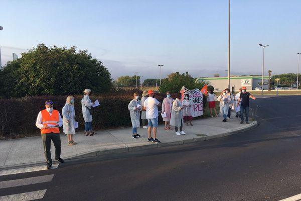 Pérols - Les salariés en grève ont organisé une opération de tractage - 16.09.20