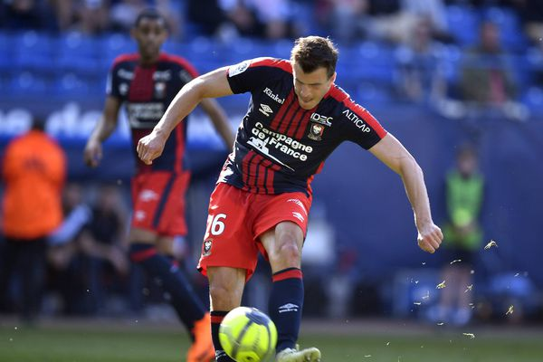 Crivelli lors du match Caen-Monaco pour la 36ème journée de Ligue 1