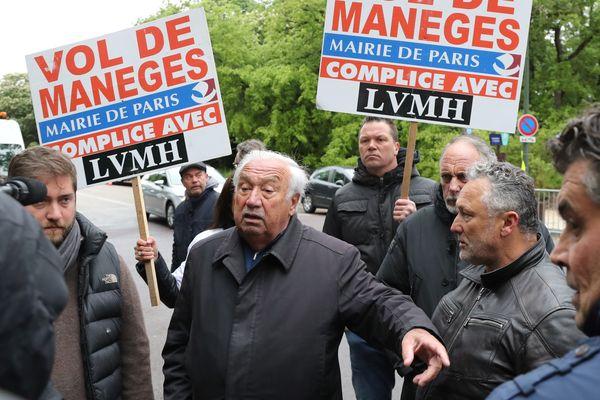 Marcel Campion lors d'une manifestation près de la fondation Louis Vuitton le 30 avril 2018 à Paris.