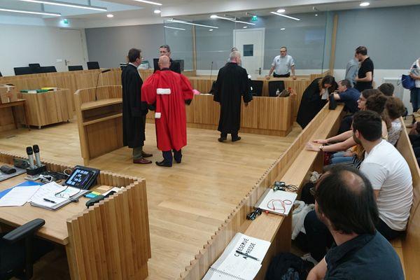 La salle des assises du tribunal de grande instance de Strasbourg durant le procès d'Eric Mosser
