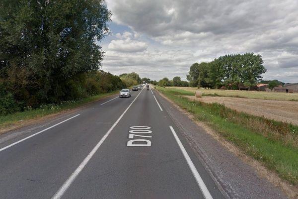 L'accident s'est produit sur la D700 entre Wattrelos et Villeneuve d'Ascq.
