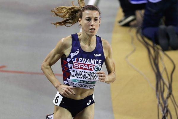 Ophélie Claude - Boxberger lors du final du 3000 m aux championnats d'Europe de Glasgow en mars 2019.
