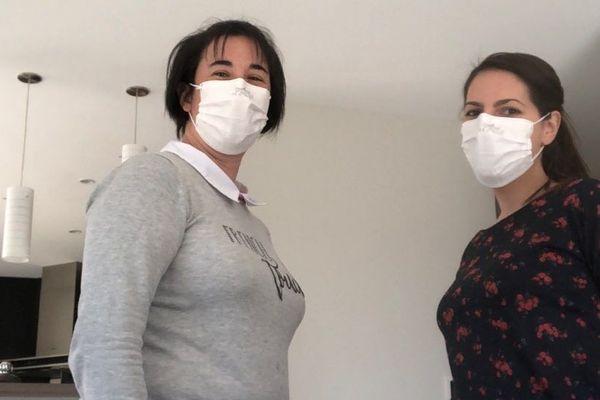 Sandrine Baron et Manon Papin , infirmières libérales, associées dans un cabinet dans la commune Sévremoine , dans le Maine et Loire.