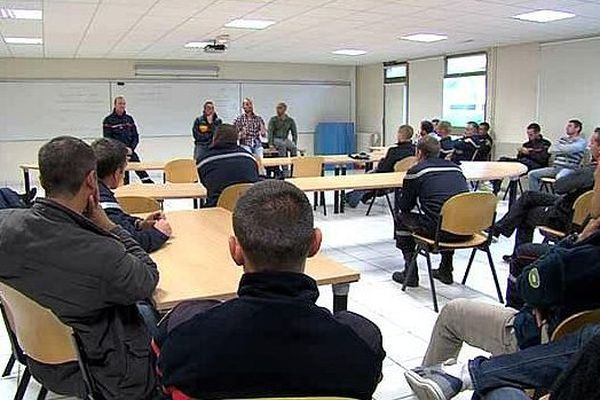 Les pompiers du Calvados réunis en AG, lundi 6 octobre 2014