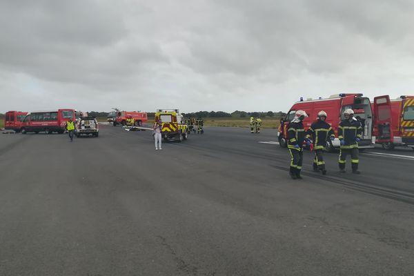 Dans le cadre d'un exercice de simulation, un avion s'est crashé sur la piste de l'aéroport de Béziers - 11 octobre 2018