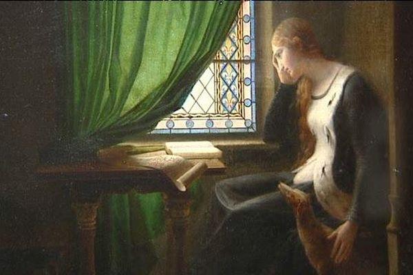 Valentine de Milan pleurant la mort de son époux Louis d'Orléans -(détail) - 1802 - Huile sur toile - Fleury Richard (Musée de l'Hermitage - St-Pétersbourg)