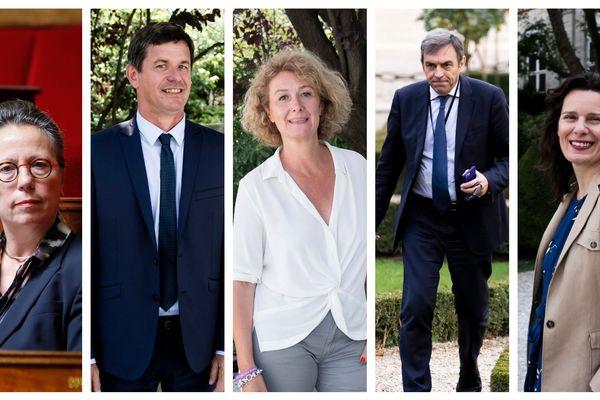 Vos députés d'Indre-et-Loire : Sabine Thillaye, Philippe Chalumeau, Sophie Auconie, Daniel Labaronne et Fabienne Colboc.