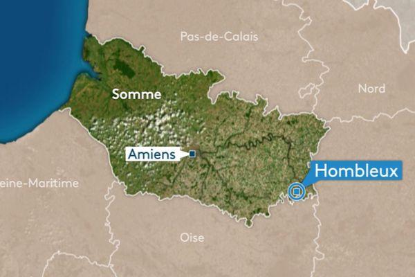 L'accident s'est produit à Hombleux, dans l'est de la Somme.