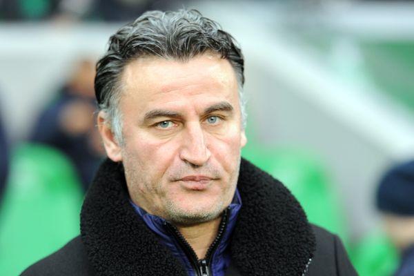 Christophe Galtier, entraîneur de l'AS Saint-Etienne (fév.2016)