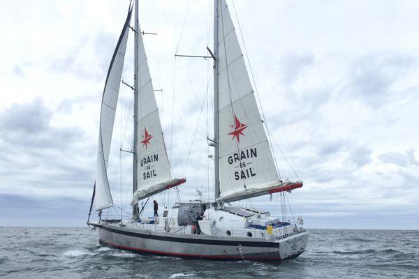 Au plus mi-novembre, le voilier cargo de l'entreprise Grain de Sail de Morlaix partira de Saint-Malo pour livrer du vin à New York en 4 à 5 semaines.