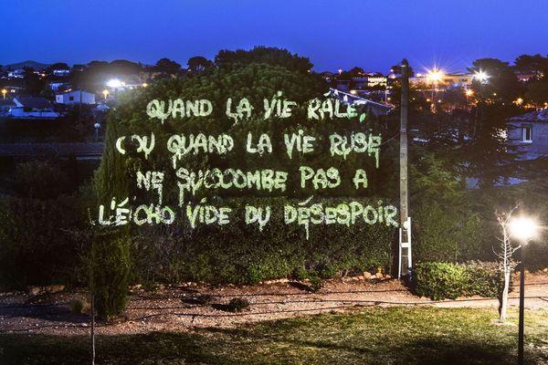 L'oeuvre de Philippe Echaroux réalisée à Marseille juste en face de chez lui.