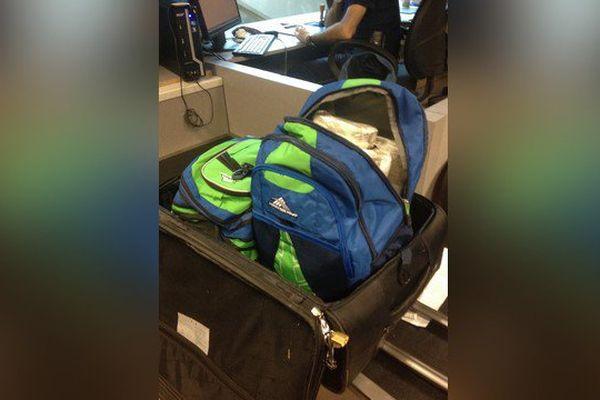 Cette valise bourrée de plus de 21 kilos de cocaïne, arrivée de République dominicaine, était étiquetée au nom d'un voyageur innocent qui attendait ses propres bagages à l'aéroport de Nice.