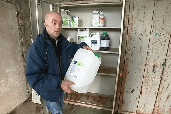 Christian Mochet, éleveur à Servon sur Vilaine et élu FDSEA utilise depuis toujours du glyphosate