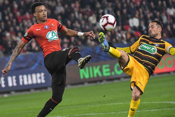 Appliqué et sérieux, surtout après la pause, Rennes a facilement pris la mesure d'Orléans (L2) 2 à 0 mercredi 27 février, en quart de finale de la Coupe de France.