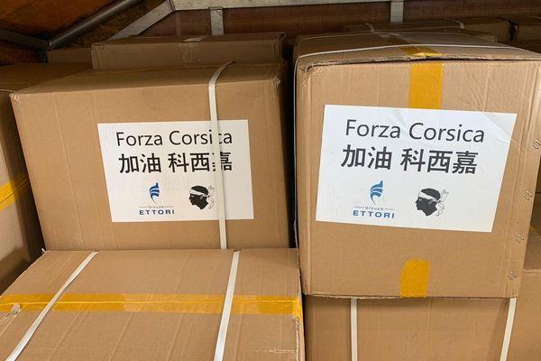 500.000 masques en provenance de Chine sont arrivés à l'aéroport d'Ajaccio lundi 13 avril