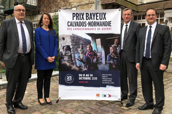 Présentation de l'affiche de la 25e édition du Prix Bayeux Calvados ce mardi 3 avril