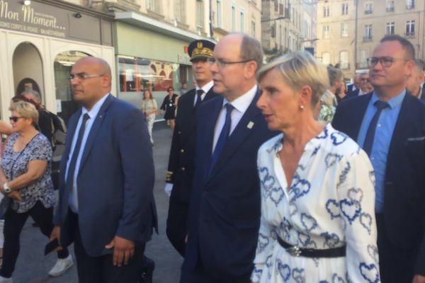 Le prince Albert II de Monaco sur ses anciennes terres, à Romans-sur-Isère