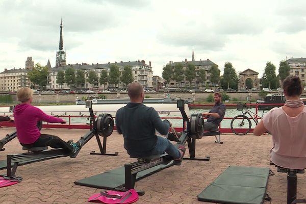 Présentation de l'aviron santé à Rouen le 3 octobre 2020