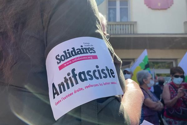 """200 personnes présentes à la """"Marche des libertés"""" à Tulle, samedi 12 juin 2021."""