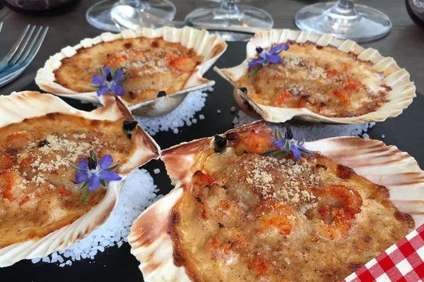 Une recette de Benjamin Bajeux - le gratin de coquilles Saint-Jacques